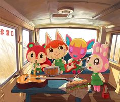 Animal Crossing Fan Art, Animal Crossing Villagers, Animal Crossing Pocket Camp, Kawaii Illustration, Cute Cartoon Characters, Character Drawing, Cute Drawings, Cute Art, Pokemon