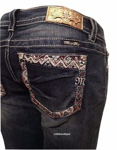 Miss Me Size 33 (15/16) Embroidered Boot Cut Jeans JY8475B2 NWT  #MissMe #BootCutSignatureBoot