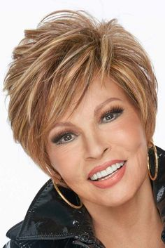 On your Game by Raquel Welch Wigs - Heat Friendly Synthetic, Lace Front, Partial Monofilament Wigs Short Layered Haircuts, Short Haircut, Short Hairstyles For Women, Short Razor Haircuts, Haircut Styles, Short Hair With Layers, Short Hair Cuts For Women, Raquel Welch Wigs, Monofilament Wigs