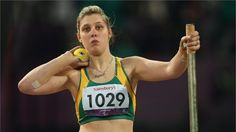 Louise Ellery of Australia competes in the women's Shot Put - F32/33/34 Final on Day 8 of the London 2012 Paralympic Games at the Olympic Stadium.  /Photo/sport/General/01/42/76/961louise-ellery-australia-competes-the-women-shot-put-f32-final1427696  Related tags