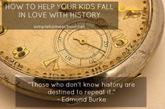 how to help your kids fall in love with history