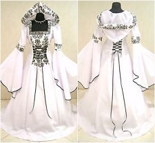 MEDIEVAL WEDDING DRESS 10-12-14 S-M GOTHIC WITCH COSTUME WICCA GAME OF THRONES