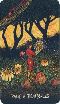 Bài viết Lá Page of Pentacles - Prisma Visions Tarot bài tarot