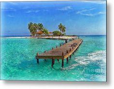 Caribbean Metal Print featuring the photograph Robinson Island by Hanny Heim, Snowbird Photography