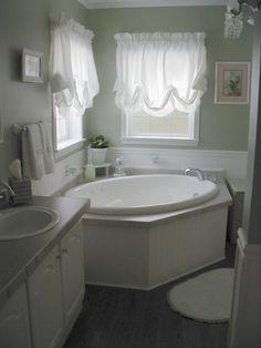 shabby chic bathrooms   Vintage Shabby Chic Small Master Bathroom Redo, This is a bathroom ...