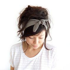 Tie Up Headscarf Fawn. £12.00, via Etsy.