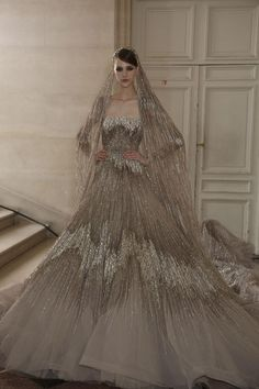 Wow... Nicole Pollard at Elie Saab Haute Couture F/W 2013 Paris.