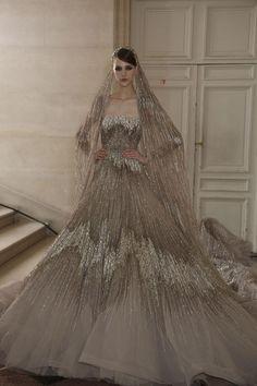 Elie Saab metallic wedding dress