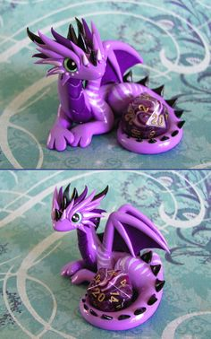 Purple Striped Dice Dragon by DragonsAndBeasties.deviantart.com on @deviantART I need to save up some money for one of these, they're just too cute!