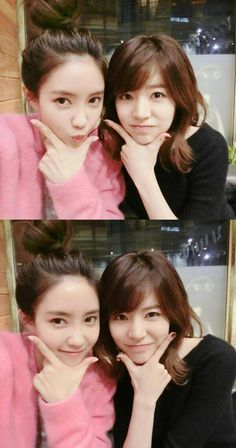 Hyomin and Sunny show off their friendship in new selcas | http://www.allkpop.com/article/2014/02/hyomin-and-sunny-show-off-their-friendship-in-new-selcas