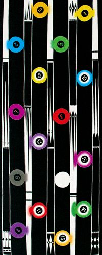 Japanese washcloth, Tenugui ビリヤード Billiards