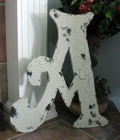 LETTER A Vintage Style Wood BEST 2 ft tall by thebackporchshoppe, $41.95