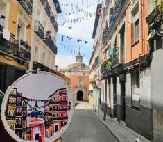 This is one of the most beautiful streets in Lavapies.