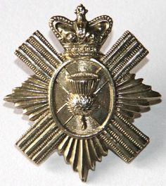 ROYAL ABERDEENSHIRE MILITIA VICTORIAN GLENGARRY BADGE pre-1881. Nice example of this scarce badge. Die struck. Victorian crown . Thistle over a Saltire to the centre. 2 lugs. No rubbing to high points. Later became part of the Gordon Highlanders.