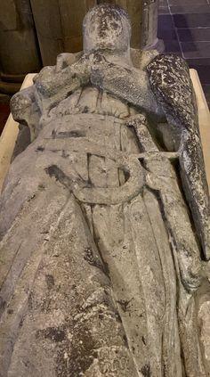Effigy of Sir Gilbert de Umfreville (1245-1307) at Hexham Abbey in Northumberland. @HexhamAbbey Sir Gilbert, My Ancestors, Effigy, Combat Boots, Combat Boot
