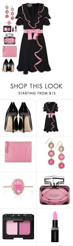 """""""Ruffles Anyone?"""" by gemique ❤ liked on Polyvore featuring Jimmy Choo, Gucci, Valentino, INC International Concepts, Anabela Chan, NARS Cosmetics, Smashbox and OPI"""