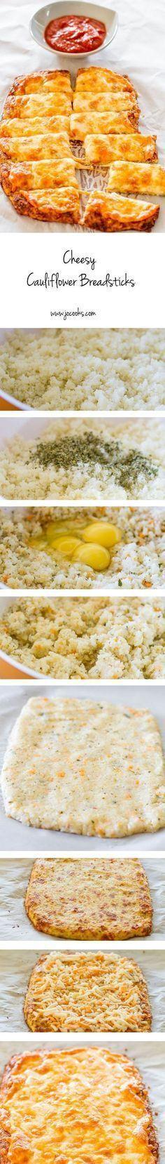Cheesy Cauliflower Breadsticks – gluten free, low carb, cheesy cauliflower breadsticks! This recipe is a winner and a keeper!