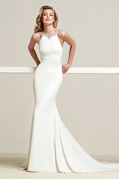 3dbc171f44 Wedding dress with Halter Neck. PosesHalter NeckFashion DressesBrideWedding  DressesMermaid ...