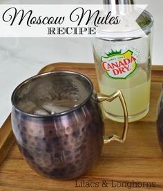 Don't like the strong taste of ginger beer?  Then you'll love this Moscow Mules Recipe that uses ginger ale!
