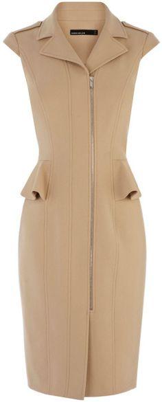 Tough Tailoring Peplum Biker Dress - Lyst