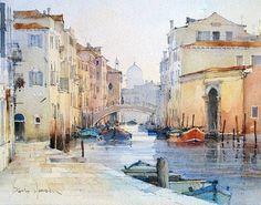 Rio della Sensa Venice by David Howell  #sketchcollector  http://ift.tt/1W6kTbD by sketch_collector