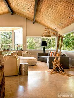 Bambu como forro - não necessita acabamento e proporciona conforto térmico e acústico!