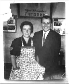 Yuri Gagarin (1934 – 1968), a Russian cosmonaut, the first human in space, with Elena Alexandrovna Kozlova, his school teacher in botany. Circa 1962 – 1968. #Russian #cosmonaut #Yuri_Gagarin