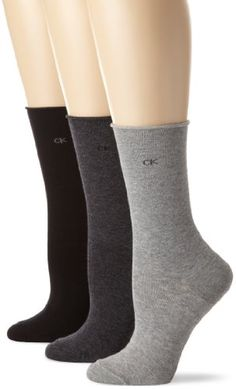 Calvin Klein Women's 3 Pack Roll Top, Charcoal Heather/Grey Heather/Black, One Size Calvin Klein http://www.amazon.com/dp/B004K30HEW/ref=cm_sw_r_pi_dp_PFfTvb02KPKCJ