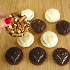 Simple Chocolate Pretzel Coins