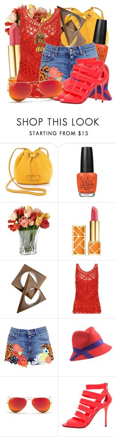 """""""Senza titolo #939"""" by matelda ❤ liked on Polyvore featuring Marc by Marc Jacobs, OPI, Tory Burch, Monsoon, Christopher Kane, Bundle MacLaren Millinery, Ray-Ban and Jimmy Choo"""