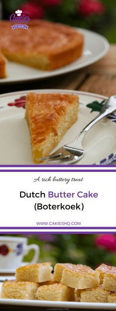 Dutch butter cake (boterkoek) is a traditional moist flat cake with crispy edges. Butter cake (boterkoek) is a delicious Dutch treat to indulge in. Dutch Desserts, Köstliche Desserts, Delicious Desserts, Autumn Desserts, Baking Recipes, Cake Recipes, Dessert Recipes, Amish Recipes, Boterkoek Recipe