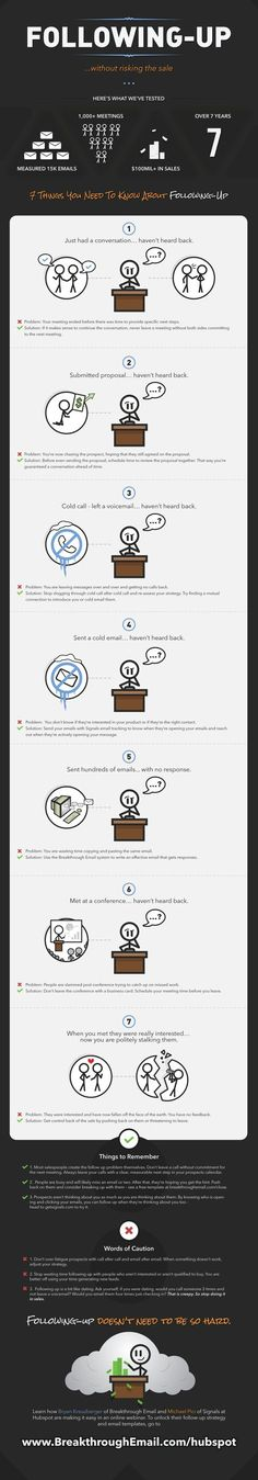 7 Easy Fixes for Common Sales Follow Up Problems #Infographic