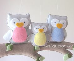 Baby mobile Owl mobile Baby crib mobile Baby par LoveFeltXoXo