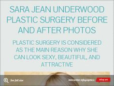 Infographic: Sara Jean Underwood Plastic Surgery Before and After Photos -