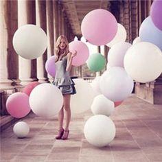 """HuaYang Super Grand Balloon de Latex Solide 36"""" Round Décoration Pour Célébration d'Anniversaire Mariage Soirée Bal(Couleur: Rose): Amazon.fr: Jeux et Jouets"""