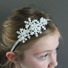 """Make your own Frozen inspired headband with snowflakes and jewels. Includes a """"let it go"""" dress tutorial"""