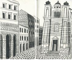Italy. Drawings from observation. By artist JooHee Yoon, c2014.