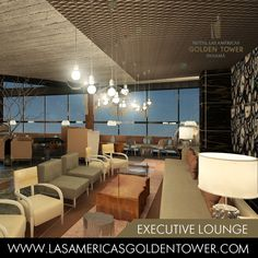 Hotel Las Americas Golden Tower Panamá will feature an exclusive Executive Lounge, the largest one in Panama City, with spectacular views from the 28th floor. Here you will enjoy a healthy American breakfast, snacks in the morning and afternoon, and salty and sweet hors d'oeuvres in the evenings.