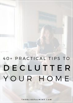 Is clutter taking over your life? You need these practical tips to declutter your home and keep it organized for good! Plus, you get a free 12-page decluttering workbook to guide you through the process!