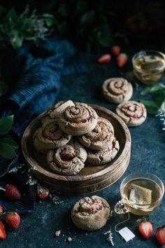 Buckwheat & Ricotta Scones with Strawberry Swirl - The Kitchen McCabe
