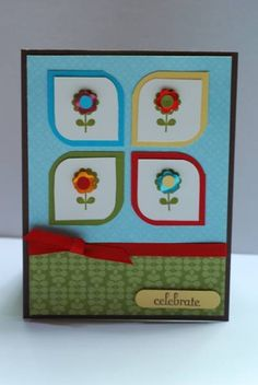 Cute card. I love opposite rounded corners.