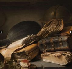 """117 Likes, 4 Comments - Debora (@elesium) on Instagram: """"Jan Lievens. Painted in 1627 """"Still life with Books"""". Permanent collection - Rijksmuseum, Amsterdam."""""""