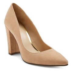 Women's Brie Block Heel Pumps Merona - Blush 5.5