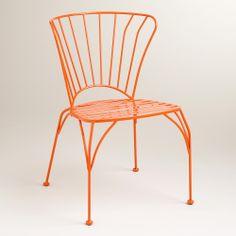 Koi Orange Cadiz Metal Chairs, Set of 2 | World Market