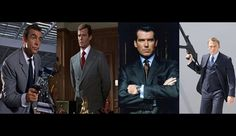 James Bond.  These are my favourite four Bonds, James Bonds.  I do not formally recognize any others.