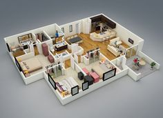 25-more-3-bedroom-3d-floor-plans (7)