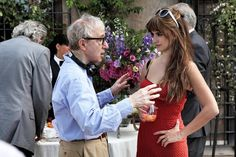 Woody Allen with Penelope Cruz on-set of To Rome With Love (2012)