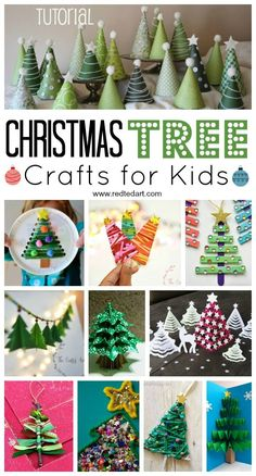 Christmas Tree Crafts for Kids - from Christmas Tree Garlandas, to Pop Up Christmas Tree Cards, Christmas Tree Ornaments and Christmas Tree bookmarks.. lots of wonderful Christmas Tree Crafts for all the family to enjoy! #Christmas #Christmastree #christmastreecrafts #crafts #treecrafts #craftsforkids #christmascraftsforkids #kids #crafts #diy