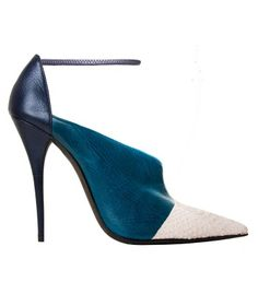 Narciso Rodriguez Tri-Color Pointed Stiletto with Ankle Strap