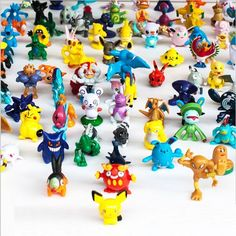 "Amazon.com: OliaDesign Pokemon Pikachu Monster Mini Action Figures Toy (Lot of 24 Piece), 1"": Home & Kitchen"
